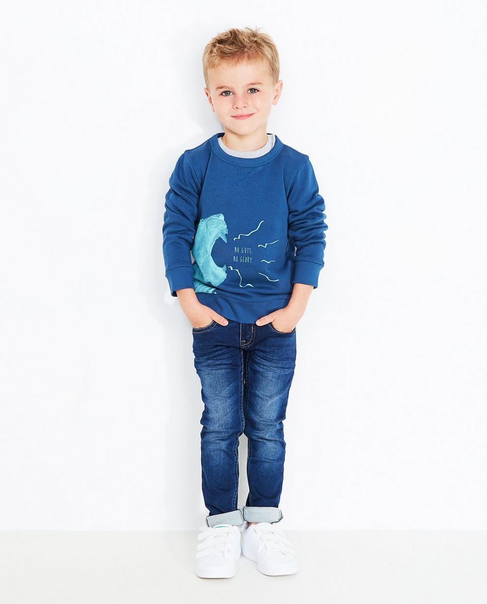 Pullover mit Print - in Nachtblau - Best price